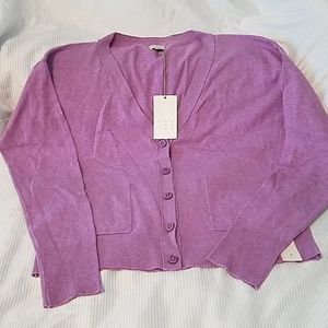 A New day- Ladies orchid cardigan